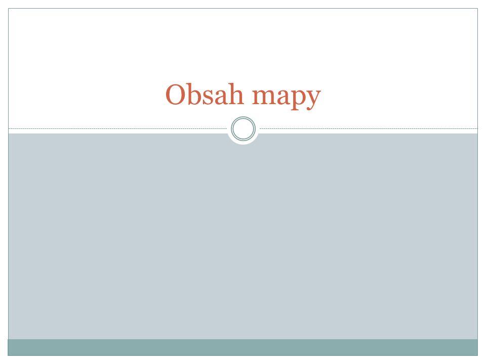 Obsah mapy - výškopis -soubor objektů a jevů zemského povrchu zobrazených na mapě - na dvě části -výškopis a polohopis ( situaci ) mapy.