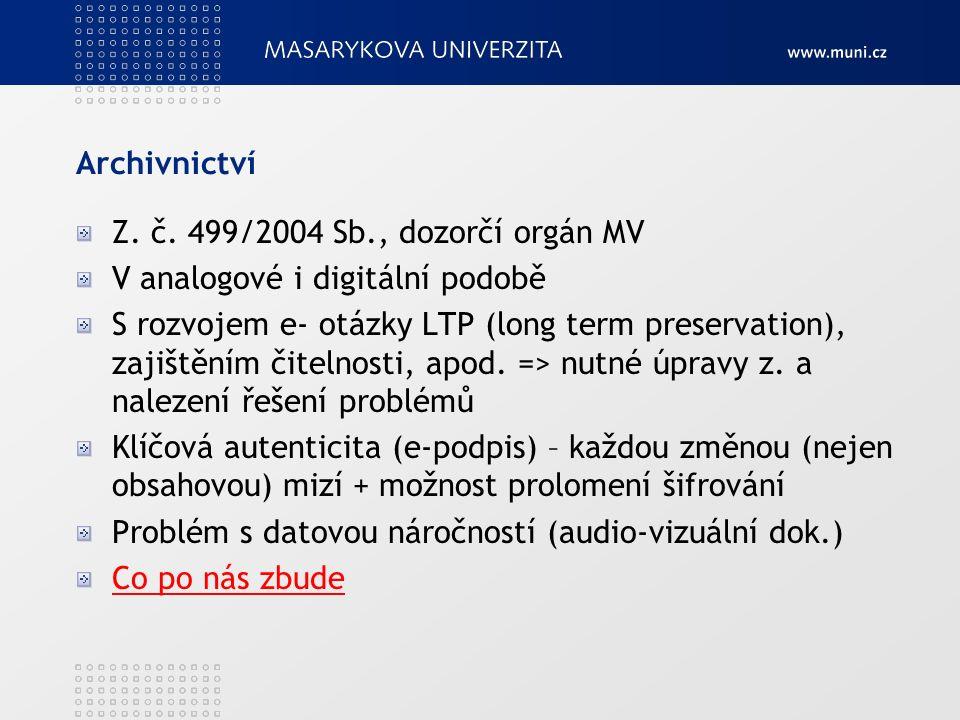 Archivnictví Z. č.