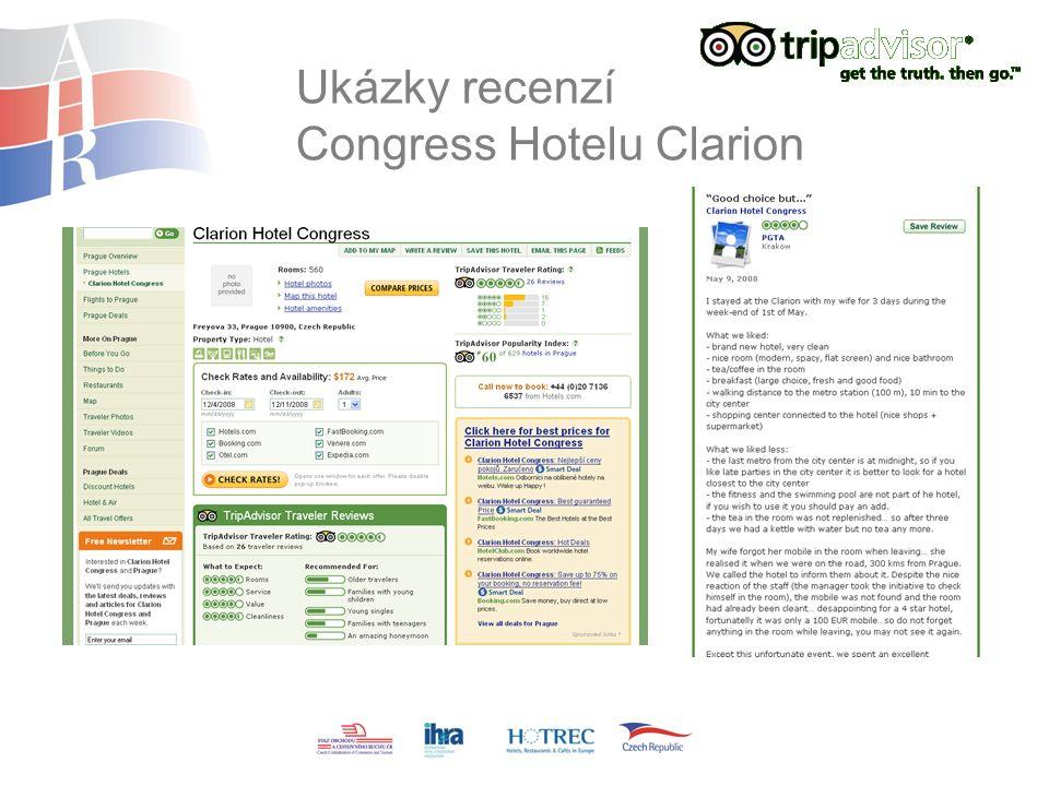 Ukázky recenzí Congress Hotelu Clarion
