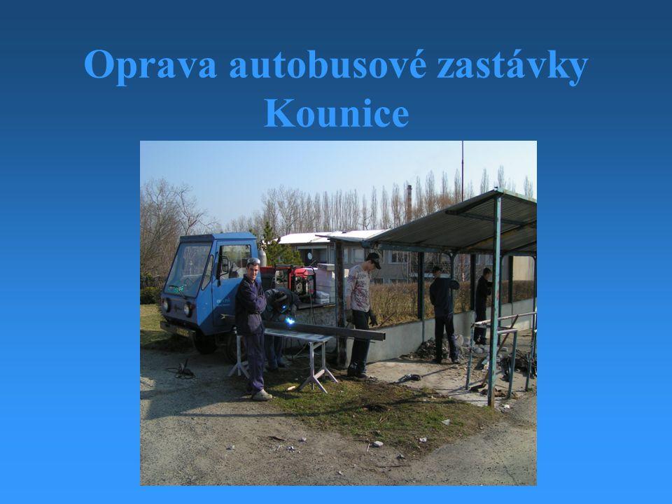 Oprava autobusové zastávky Kounice