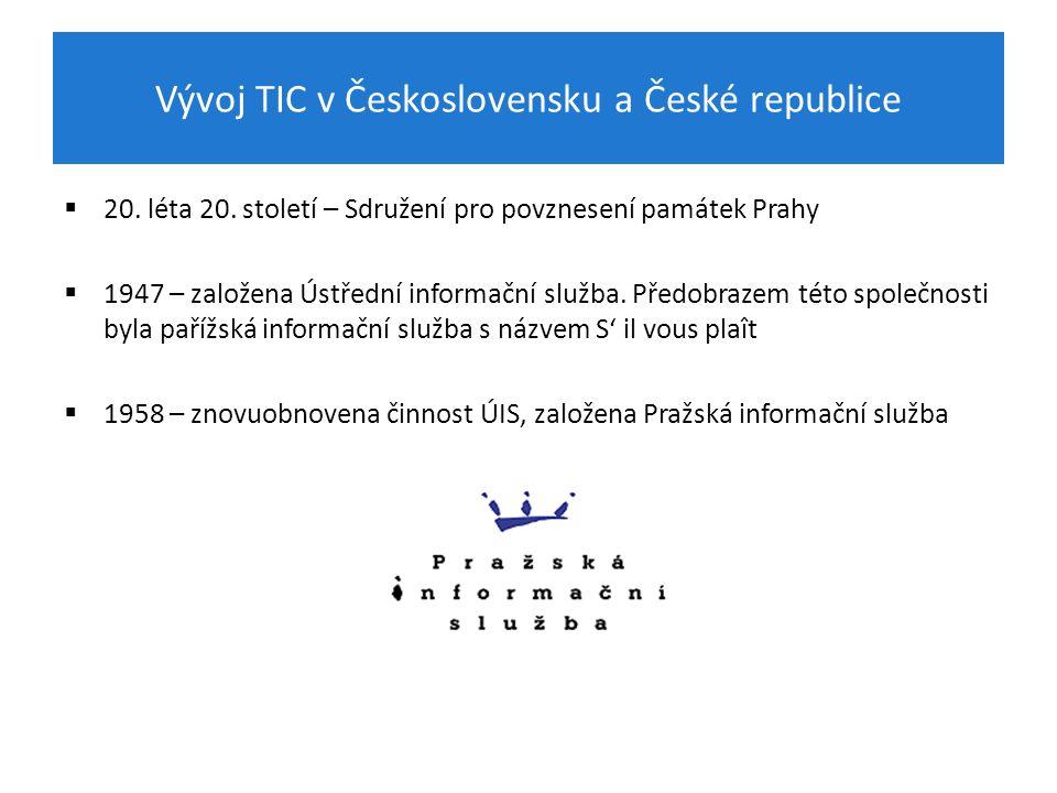 Vývoj TIC v Československu a České republice  20.