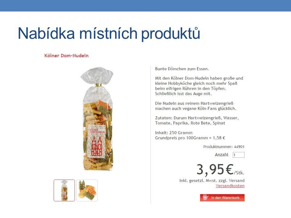 Nabídka místních produktů