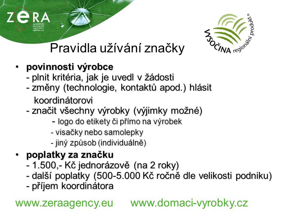 www.zeraagency.euwww.domaci-vyrobky.cz Přehled certifikovaných producentů Celkem udělných 41 certifikátůCelkem udělných 41 certifikátů Počet certifikovaných producentů 31Počet certifikovaných producentů 31 Oblasti: Potravinářské výrobky Ing.