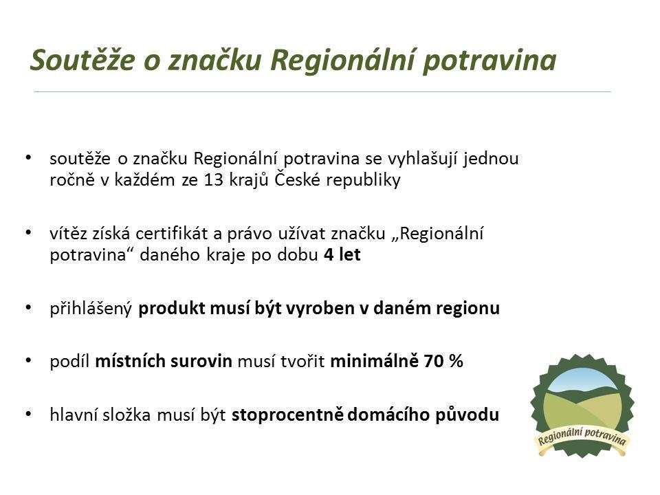 """pravidla pro udělování značky jsou uvedena v """"Metodice pro udělování značky Regionální potravina Skládá se ze 2 částí: 1.Obecná (platí pro všechny kraje) 2.Specifická Kritéria pro hodnocení"""