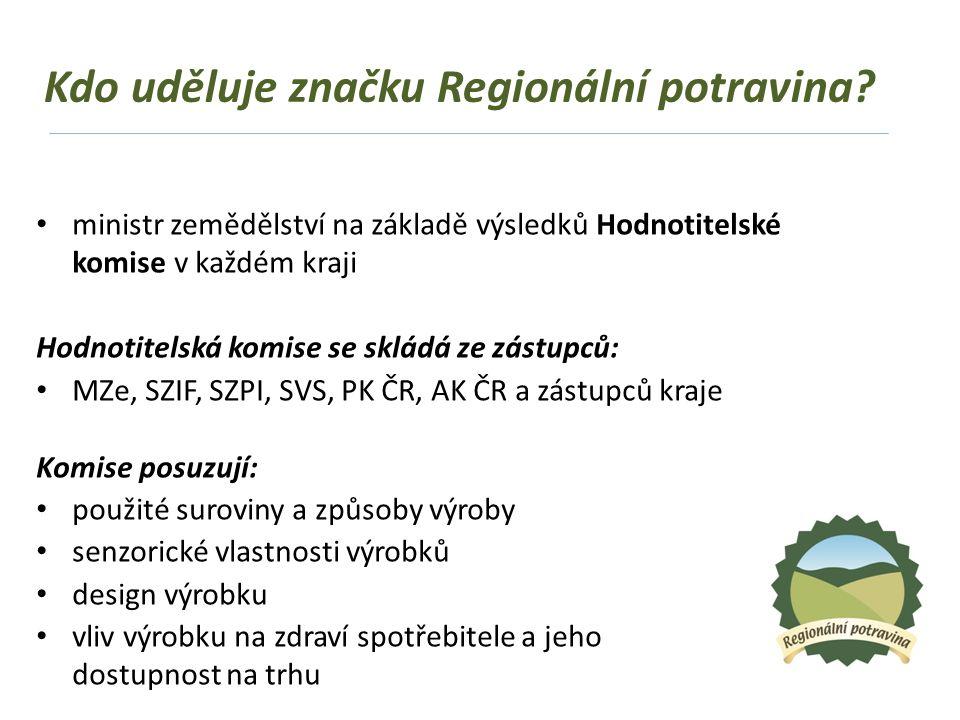 Kdo uděluje značku Regionální potravina.