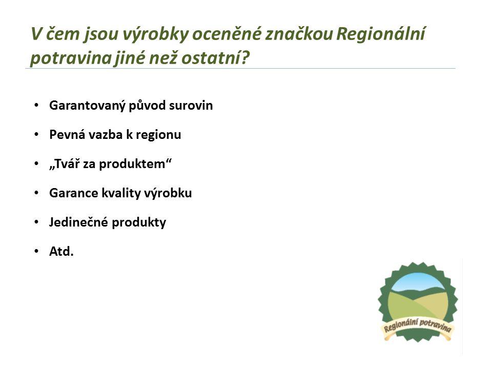 V čem jsou výrobky oceněné značkou Regionální potravina jiné než ostatní.