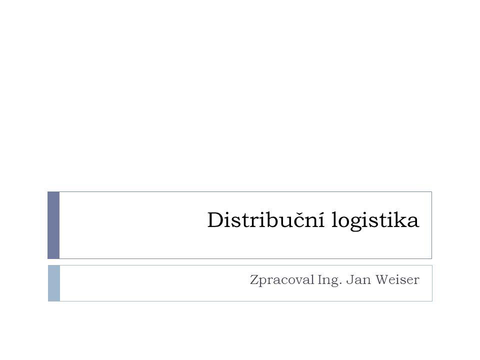 Distribuční logistika Zpracoval Ing. Jan Weiser