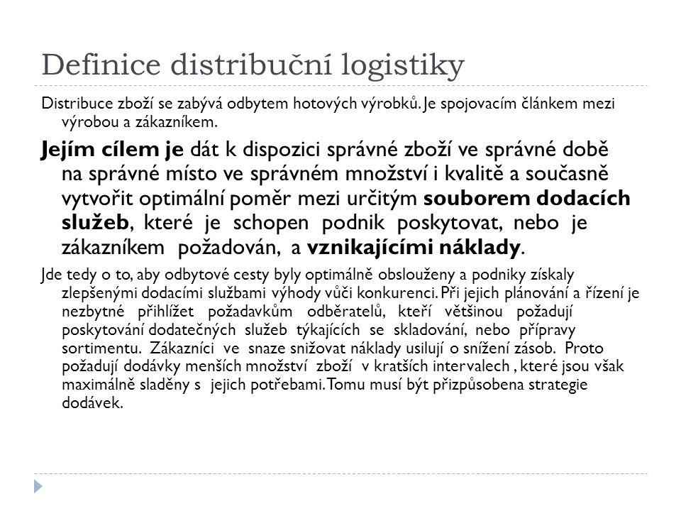 Řízení distribuce Řízením distribuce rozumíme souhrn činností, které spočívají v plánování a usměrňování distribučních řetězců.