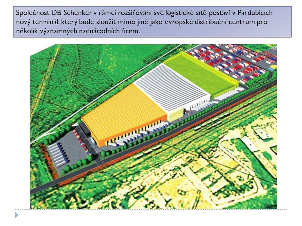Společnost DB Schenker v rámci rozšiřování své logistické sítě postaví v Pardubicích nový terminál, který bude sloužit mimo jiné jako evropské distribuční centrum pro několik významných nadnárodních firem.