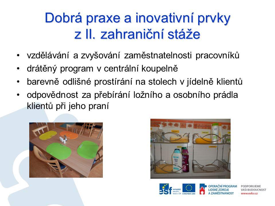 Dobrá praxe a inovativní prvky z II. zahraniční stáže vzdělávání a zvyšování zaměstnatelnosti pracovníků drátěný program v centrální koupelně barevně