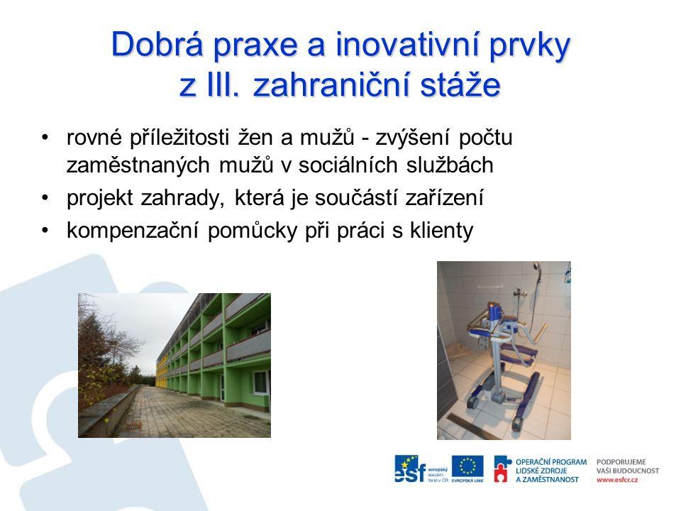 Dobrá praxe a inovativní prvky z III.