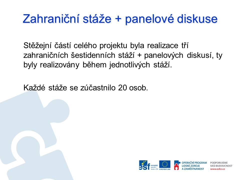 Zahraniční stáže + panelové diskuse I.zahraniční stáž (12.