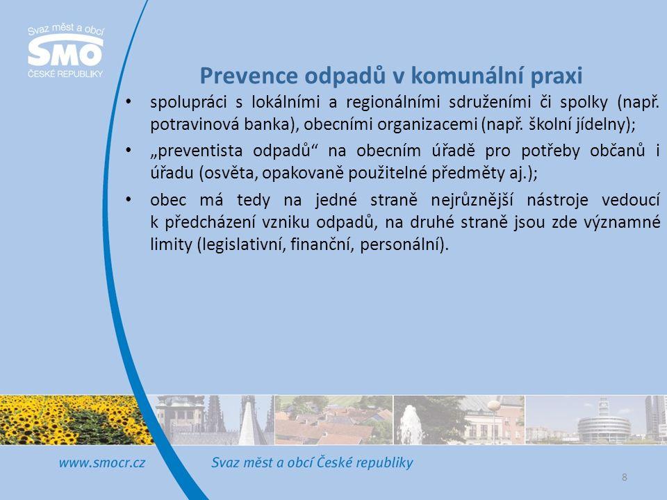 Prevence odpadů v komunální praxi spolupráci s lokálními a regionálními sdruženími či spolky (např.