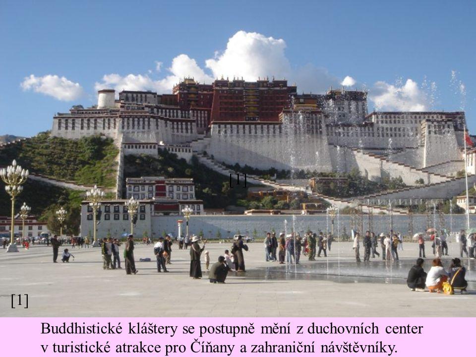 [1] Buddhistické kláštery se postupně mění z duchovních center v turistické atrakce pro Číňany a zahraniční návštěvníky.