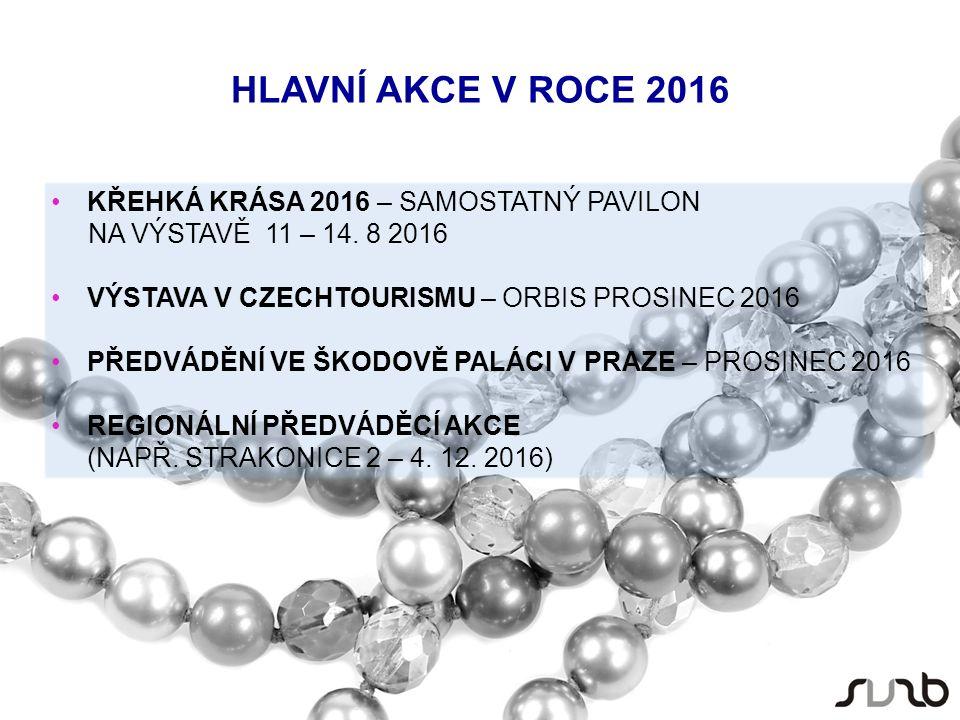 HLAVNÍ AKCE V ROCE 2016 KŘEHKÁ KRÁSA 2016 – SAMOSTATNÝ PAVILON NA VÝSTAVĚ 11 – 14.