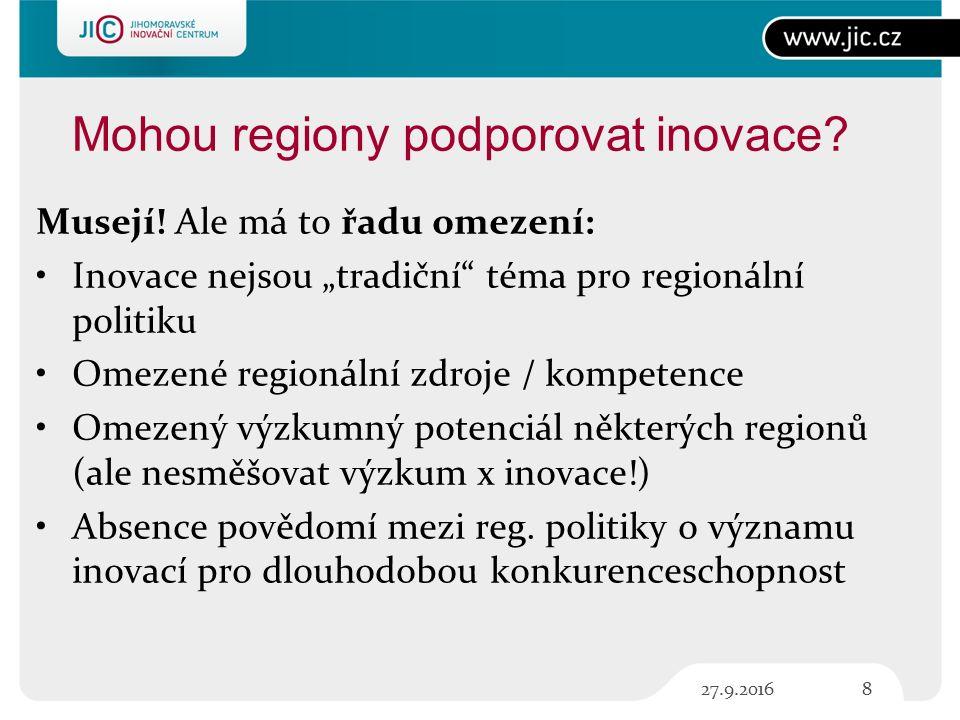 Mohou regiony podporovat inovace. Musejí.
