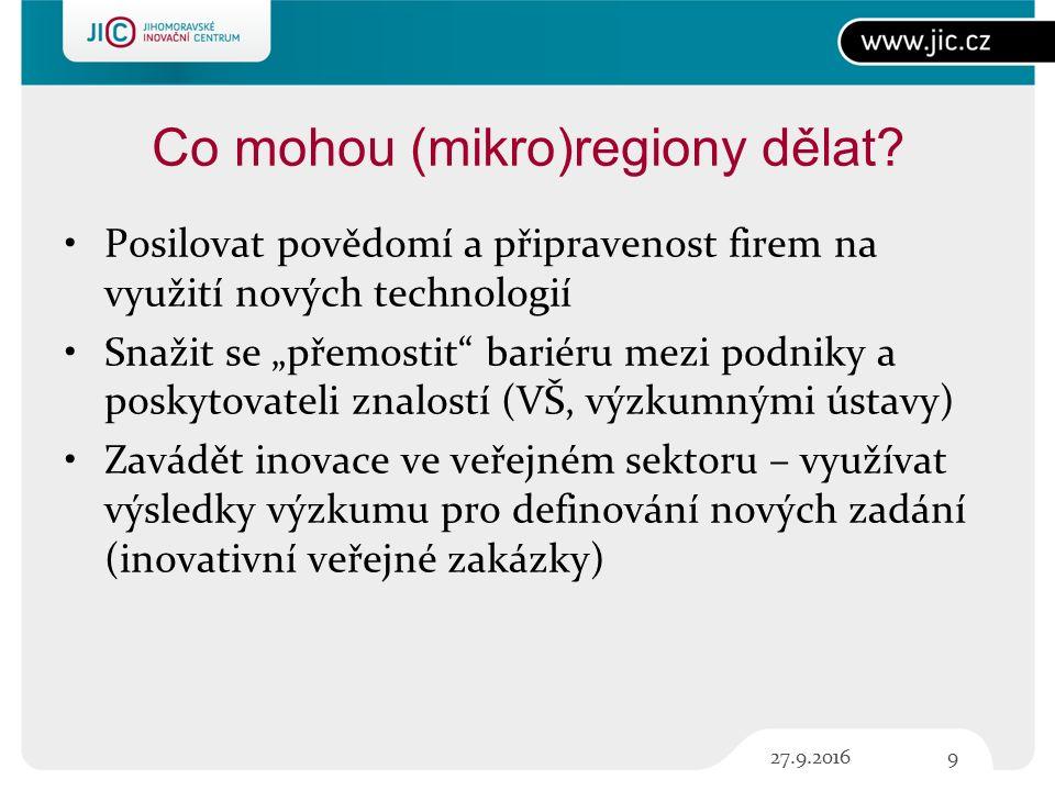 Co mohou (mikro)regiony dělat.