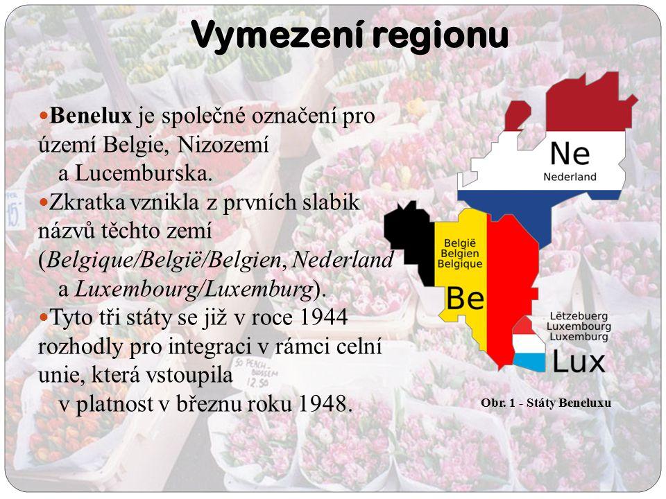 Vymezení regionu Benelux je společné označení pro území Belgie, Nizozemí a Lucemburska. Zkratka vznikla z prvních slabik názvů těchto zemí (Belgique/B