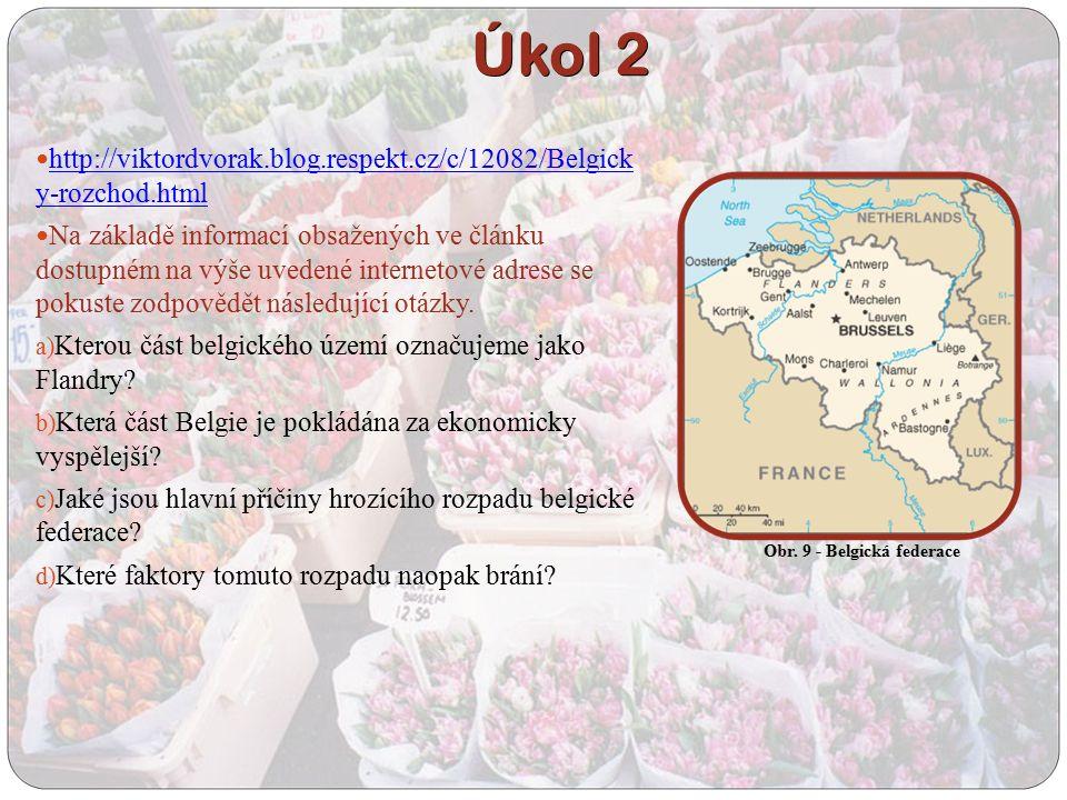 http://viktordvorak.blog.respekt.cz/c/12082/Belgick y-rozchod.html http://viktordvorak.blog.respekt.cz/c/12082/Belgick y-rozchod.html Na základě informací obsažených ve článku dostupném na výše uvedené internetové adrese se pokuste zodpovědět následující otázky.
