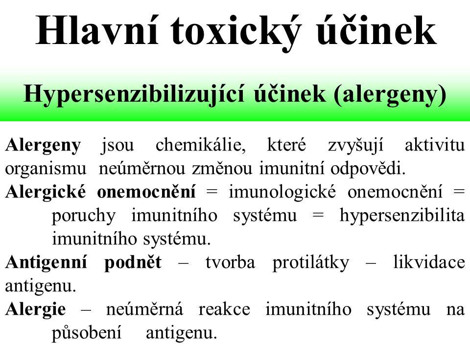 Alergeny jsou chemikálie, které zvyšují aktivitu organismu neúměrnou změnou imunitní odpovědi.