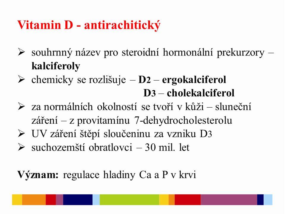  správná funkce imunitního systému – náchylnost k respiračním onemocněním Cholekalciferol Ergokalciferol [3][4]