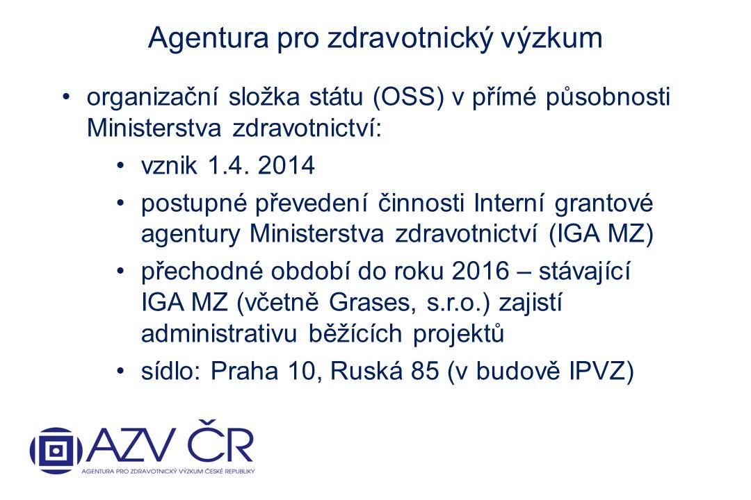organizační složka státu (OSS) v přímé působnosti Ministerstva zdravotnictví: vznik 1.4.