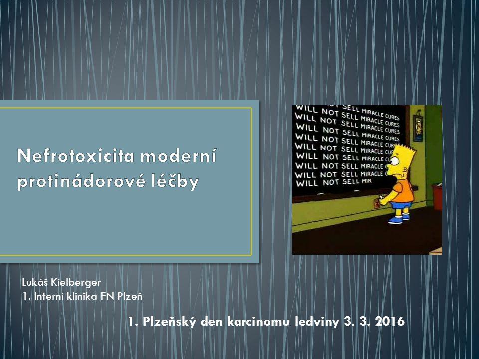 1. Plzeňský den karcinomu ledviny 3. 3. 2016 Lukáš Kielberger 1. Interní klinika FN Plzeň