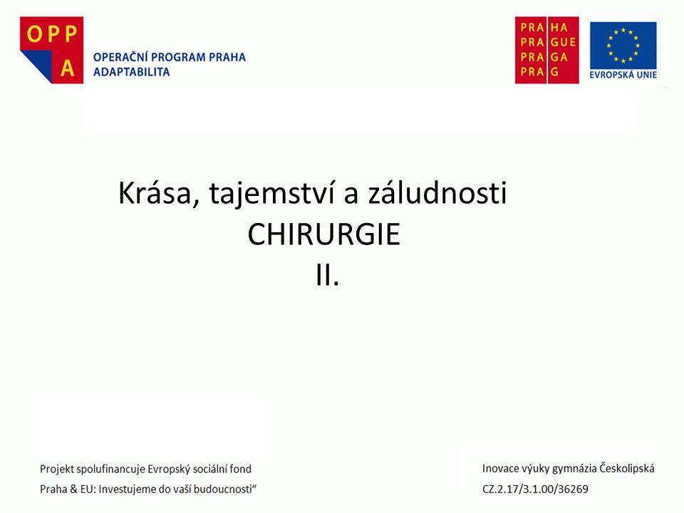 Krása, tajemství a záludnosti CHIRURGIE II.