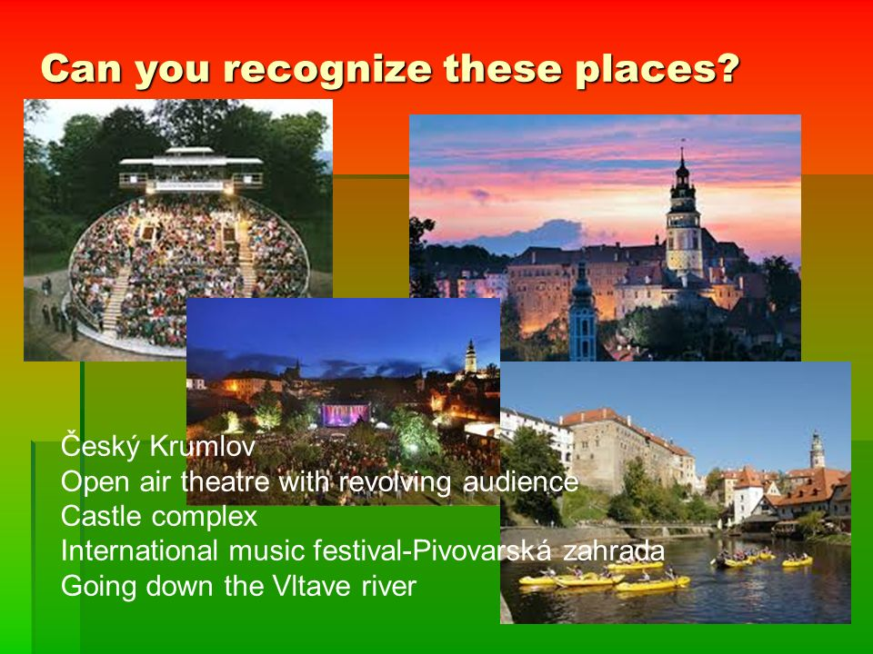 Can you recognize these places.
