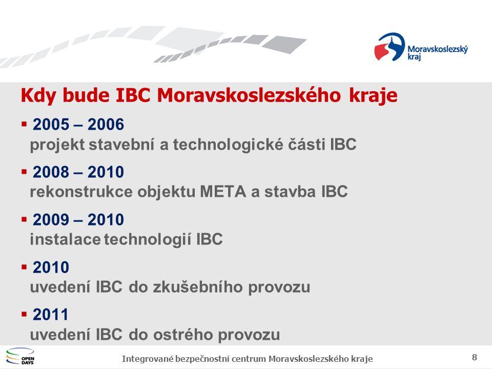 """Jednotný vizuální styl MSK Finanční náklady na výstavbu IBC 9 Integrované bezpečnostní centrum Moravskoslezského kraje  680.000.000 Kč celkové plánované náklady na realizaci IBC Moravskoslezského kraje  92,5% prostředky strukturálních fondů EU v rámci regionálního operačního programu (ROP) regionu soudružnosti NUTS 2 - Moravskoslezsko  7,5% sdružené prostředky partnerů na základě """"partnerské smlouvy - Ministerstvo vnitra ČR - Moravskoslezský kraj - Statutární město Ostrava"""
