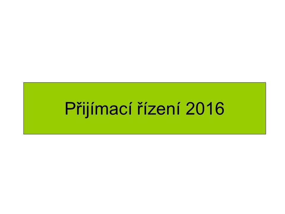Přijímací řízení 2016