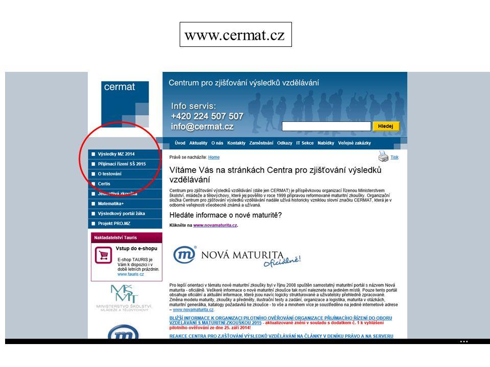 www.cermat.cz