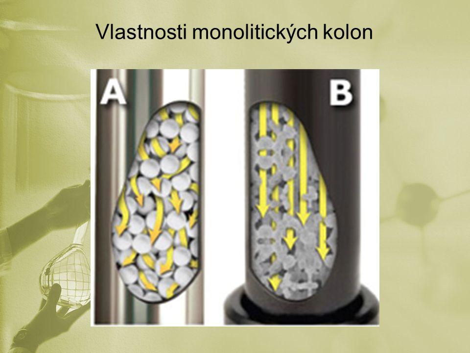 Vlastnosti monolitických kolon