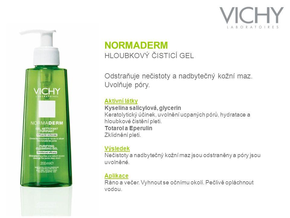 NORMADERM HLOUBKOVÝ ČISTICÍ GEL Odstraňuje nečistoty a nadbytečný kožní maz.