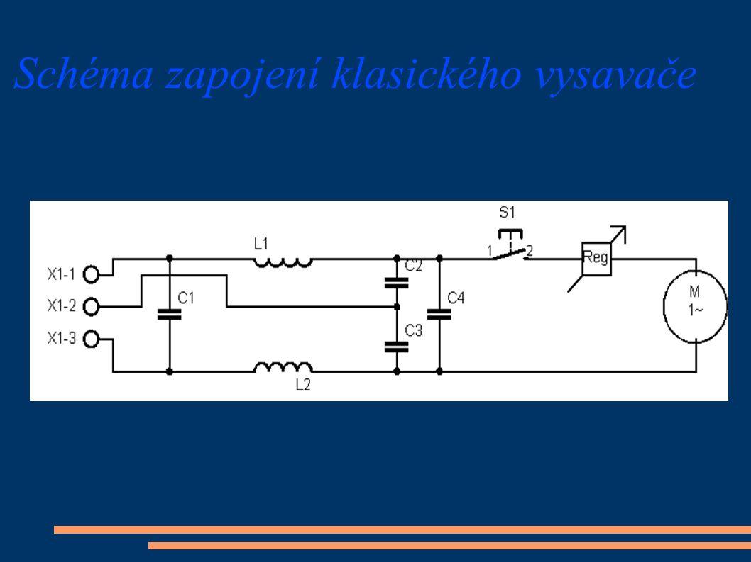 Schéma zapojení klasického vysavače