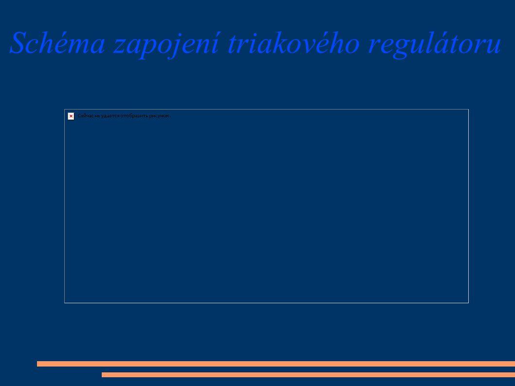 Schéma zapojení triakového regulátoru