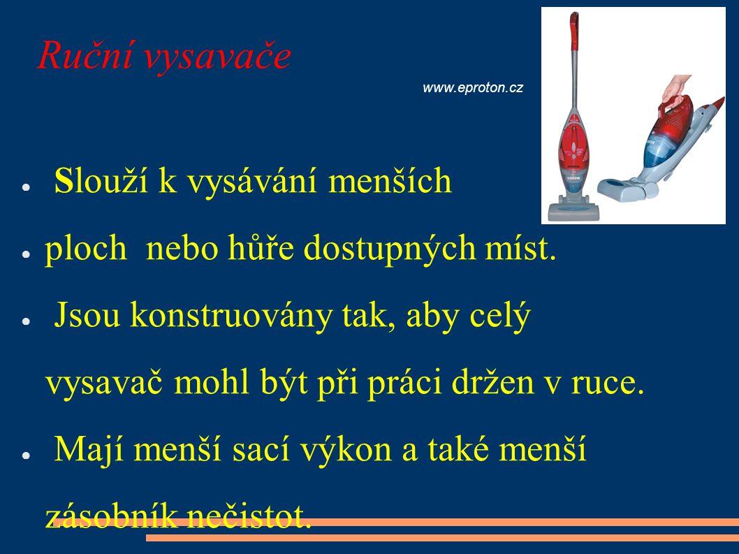 Ruční vysavače ● Napájení ze sítě 230V ● pro práci v domácnosti images.philips.com ● 12V ss.