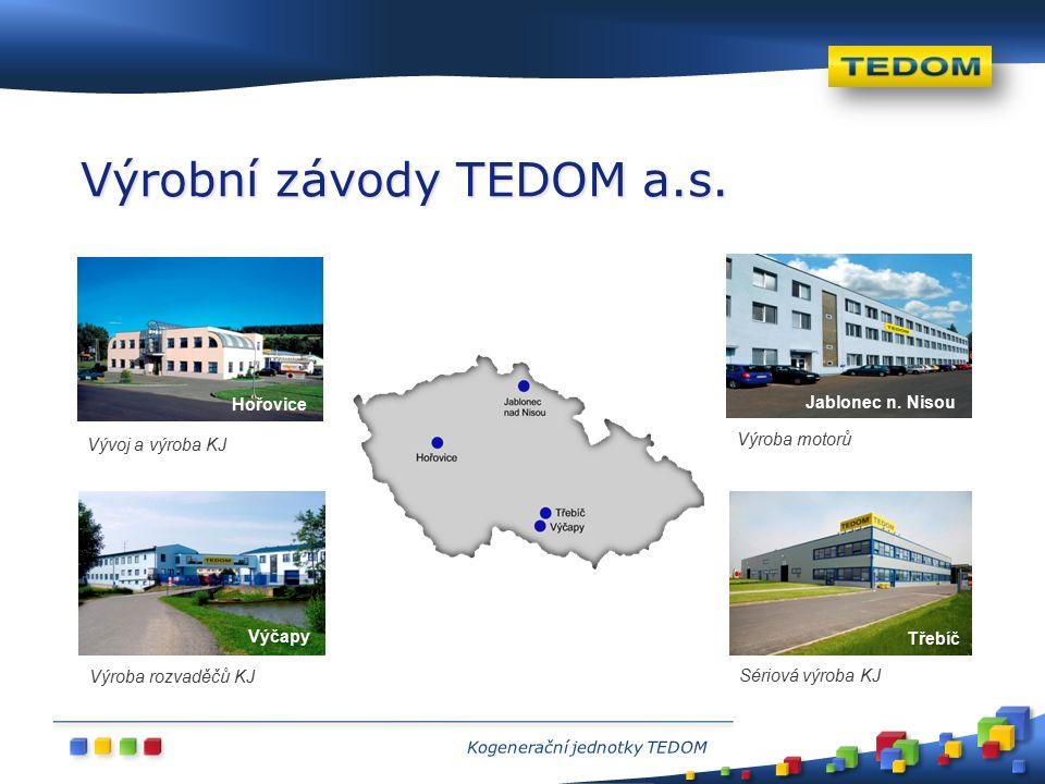 Výrobní závody TEDOM a.s. Výčapy Třebíč Hořovice Jablonec n.
