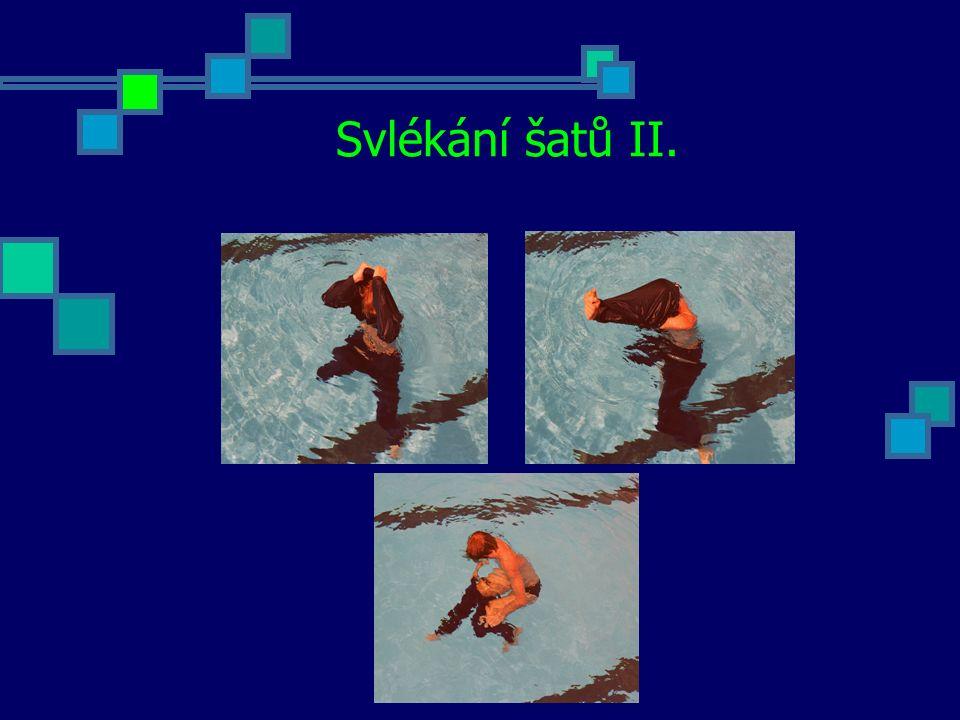 Plavání ve ztížených podmínkách Plavání za snížené viditelnosti Jedná se o situaci, která může nastat i v práci zachránce (výpadek elektrického proudu - porucha nouzového osvětlení).