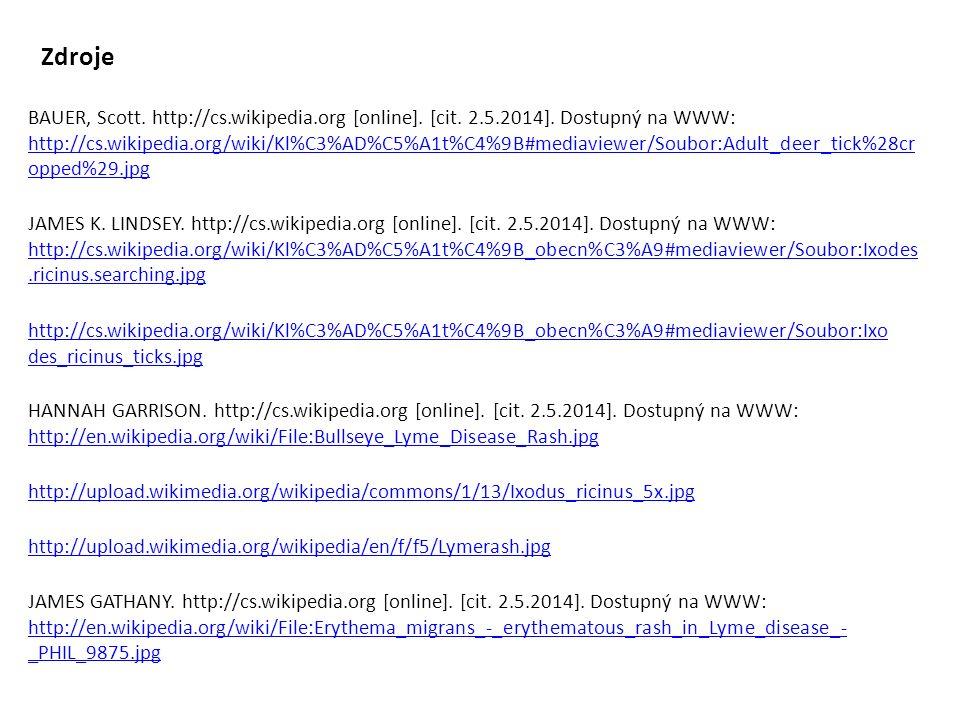 BAUER, Scott. http://cs.wikipedia.org [online]. [cit. 2.5.2014]. Dostupný na WWW: http://cs.wikipedia.org/wiki/Kl%C3%AD%C5%A1t%C4%9B#mediaviewer/Soubo