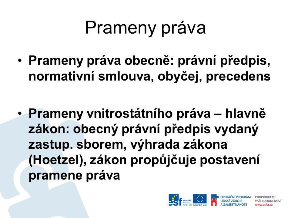 Prameny práva Ústavní pořádek ČR: čl.