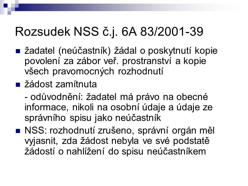 Rozsudek NSS č.j.