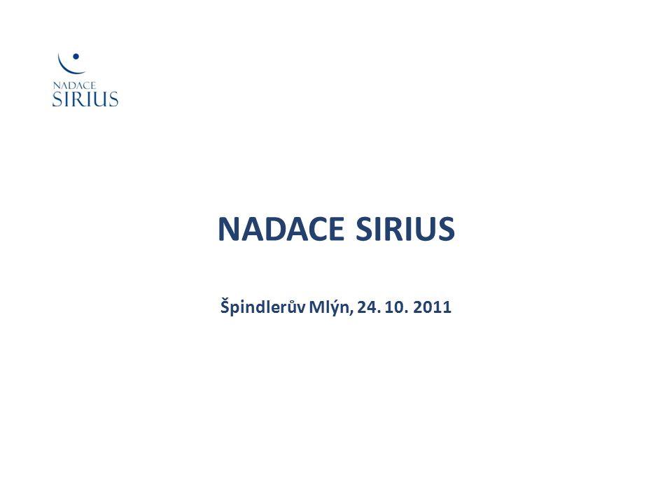 Nadace Sirius se zapojila mezi organizace působící v charitativním sektoru v červnu 2008.