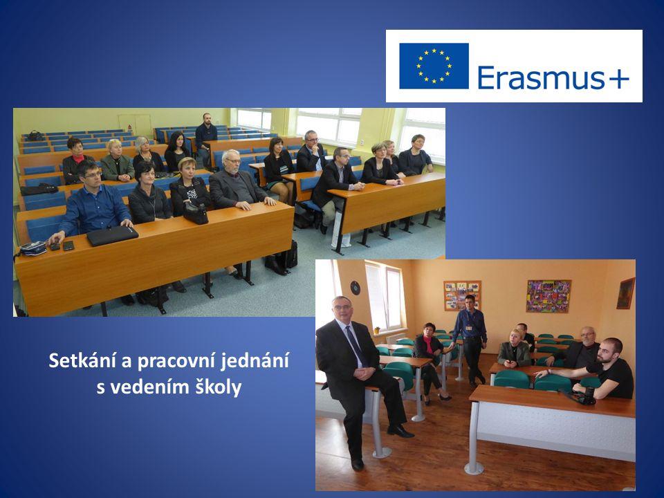 Setkání a pracovní jednání s vedením školy