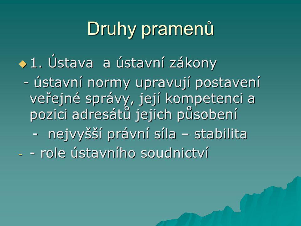 Druhy pramenů  1.
