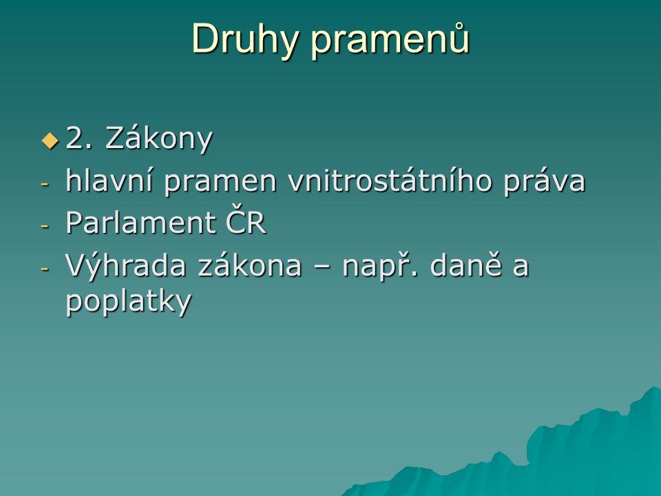 Druhy pramenů  2.