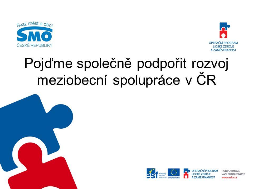 Pojďme společně podpořit rozvoj meziobecní spolupráce v ČR