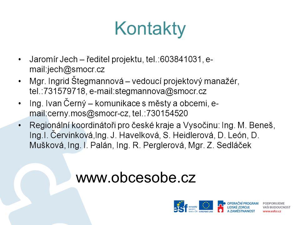 Kontakty Jaromír Jech – ředitel projektu, tel.:603841031, e- mail:jech@smocr.cz Mgr.