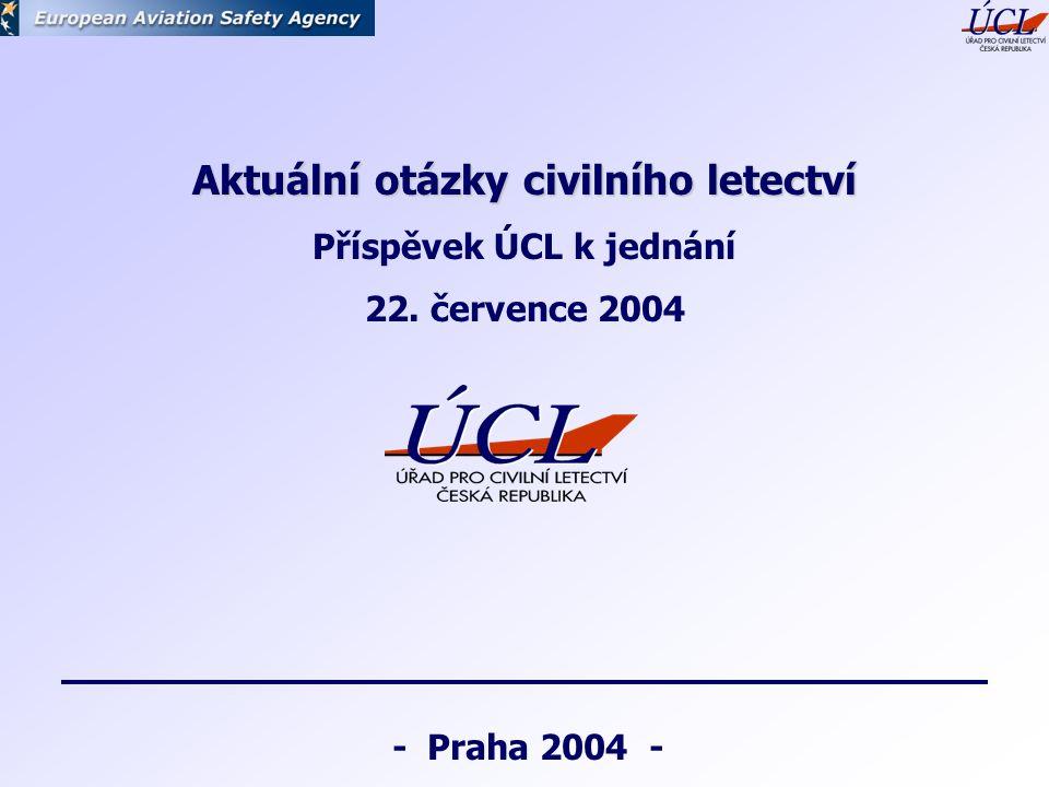 - Praha 2004 - Aktuální otázky civilního letectví Příspěvek ÚCL k jednání 22. července 2004
