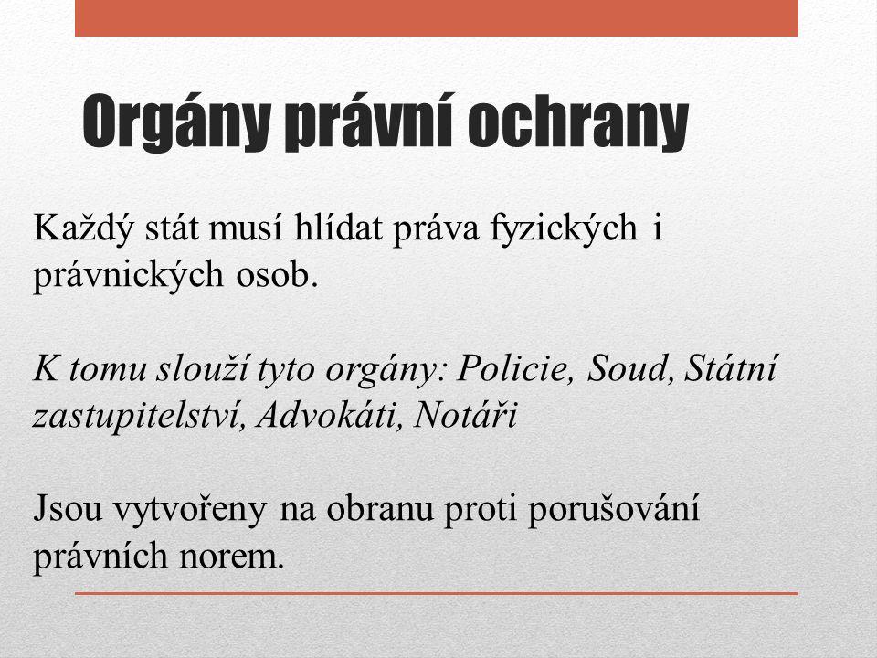 Policie Složka státu pro vnitřní ochranu.Policie ČR spadá pod ministerstvo vnitra.